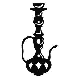 Arabic object hookah black
