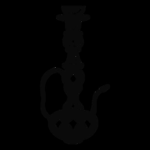 Arabic object hookah black Transparent PNG