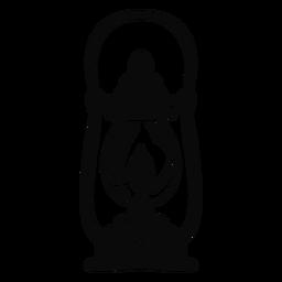 Objeto árabe lanterna preta