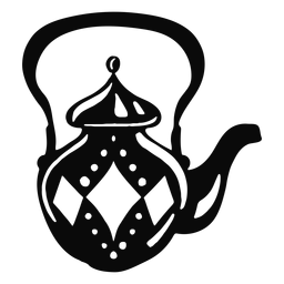 Arabic object teapot black