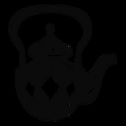 Tetera objeto árabe negra