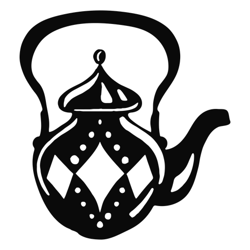 Arabic object teapot black Transparent PNG