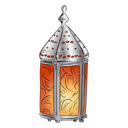 Arabic lantern design illustration