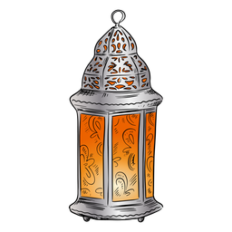 Arabic lantern illustration