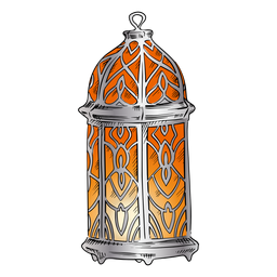 Arabic lantern illustration design