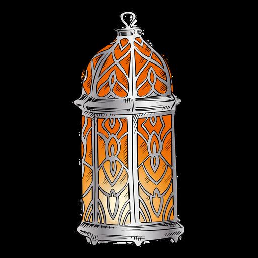 Arabic lantern illustration design