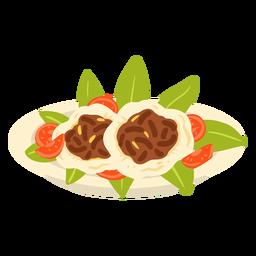 Arabic meal illustration