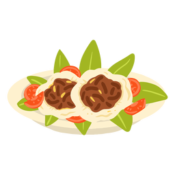 Ilustración de comida árabe