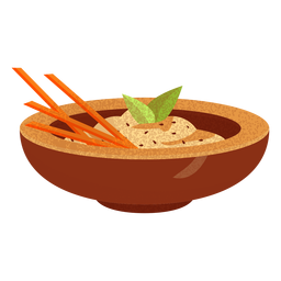 Baba ganoush arabic food illustration