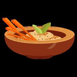 Ilustración de comida árabe baba ganoush