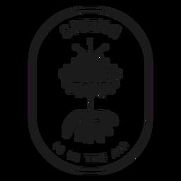 A primavera do emblema está no ar