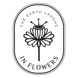 Badge the earth laughs in flowers