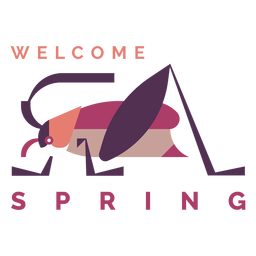 Badge welcome spring