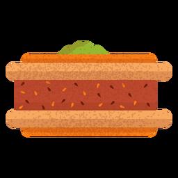 Ilustración de comida árabe Baklava