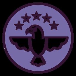 Icono de águila calva usa