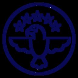 Traço de águia americana