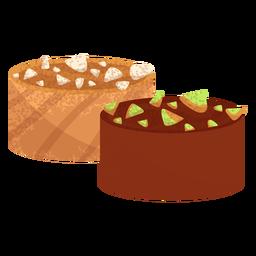 Ilustración de comida árabe borma