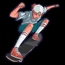 Boy skater character