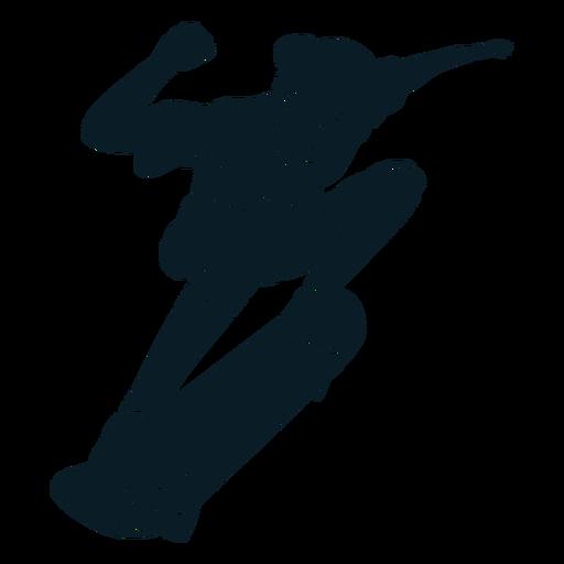 Boy skater character black