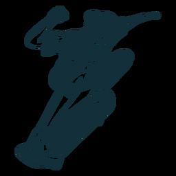 Chico patinador personaje blanco y negro