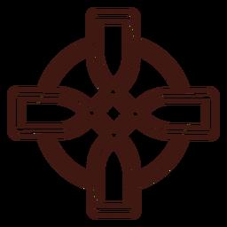 Trazo de nudo de cruz celta