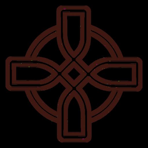 Traço de nó em cruz celta