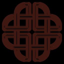 Trazo de nudo celta dara