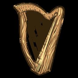 Ilustración de arpa celta