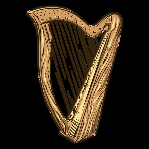 Celtic harp illustration Transparent PNG