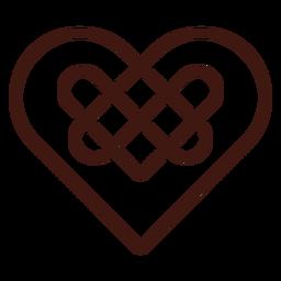 Nudo de corazón celta