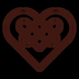 Trazo de nudo de corazón celta