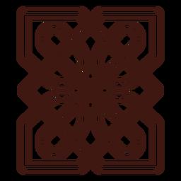 Celtic knot stroke