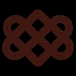 Celtic love knot stroke