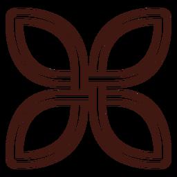 Celtic quaternary knot stroke