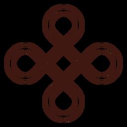 Trazo de nudo de escudo celta