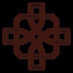 Trazo de símbolo celta