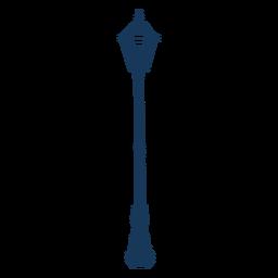 Farola clásica azul vintage