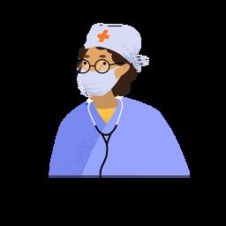 Personagem de médico de coronavírus