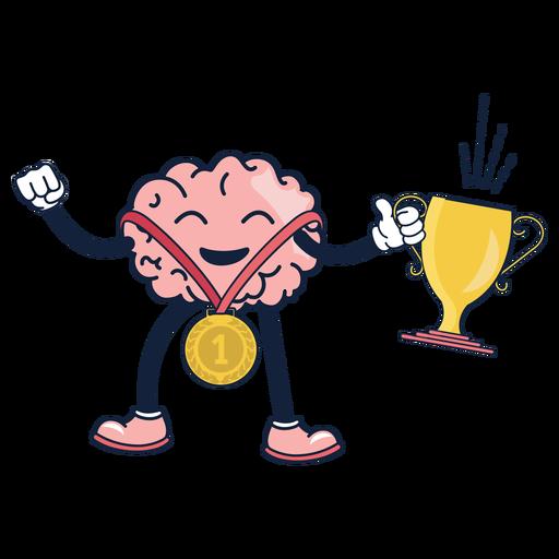 Cute dibujos animados ganadores de cerebro Transparent PNG