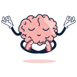 Cute brain yoga cartoon