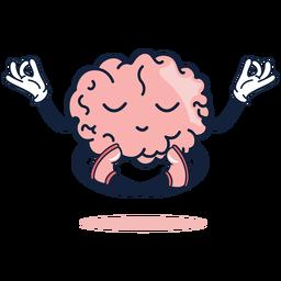 Desenho de ioga bonito cérebro