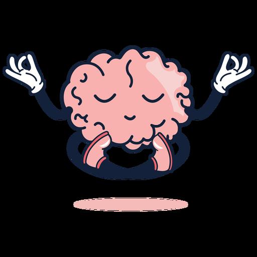 Cute brain yoga cartoon