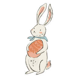 Cute easter bunny illustration