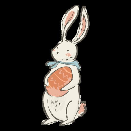 Ilustración linda del conejito de pascua