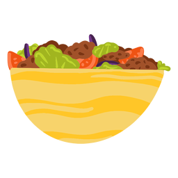 Falafel kebab arabic food illustration