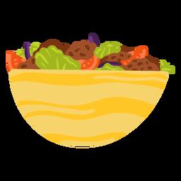 Ilustración de comida árabe de falafel kebab
