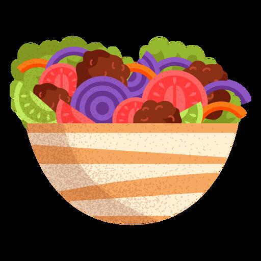 Falafel salad arabic food illustration