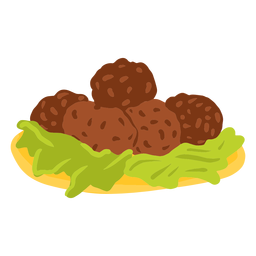 Falafel arabic food illustration