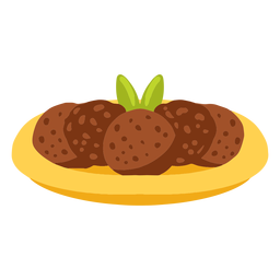 Falafel Pita Brot arabische Lebensmittel Illustration
