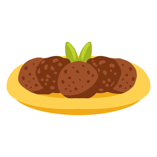 Falafel pita bread arabic food illustration
